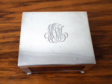 Antique US Sterling Silver 1512 Matchbox Holder Vintage Match Box Cover Case
