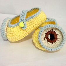 Handmade Crochet Cute Yellow people Baby  Infant Knit Sandals Toddler Shoes