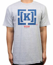 KR3W Tee Denim Co Bracket Grey Heather FREE POST Krew Skateboard T-Shirt