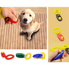 Dog Pet Puppy Training Clicker Button Obedience Trainer Aid with Wrist Strap