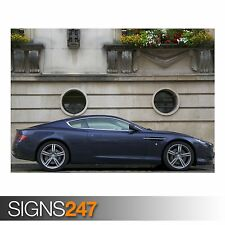 ASTON MARTIN DB9 (AB543) CAR POSTER - Photo Picture Poster Print Art A0 to A4