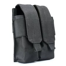 2017Tactical Molle Double Cartridge Clip Bag Pistol Magazine Mag Pouch Carry Bag