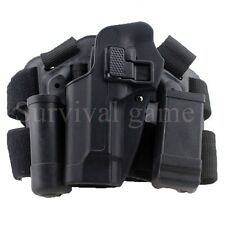 Tactical M92 Holster Left Hand Paddle Thigh Belt Pistol Gun Holster Magazine