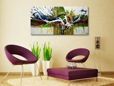 Framed Handmade Modern Abstract Wall Art Contemporary Oil Painting on Canvas