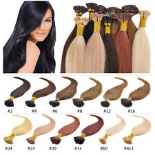 "18-22"" 100s/50g 100% Remy Human I-tip Hair Extensions With Micro Beads/Tubes"