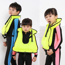 Children and Kids Scuba Diving Snorkeling Vest Adjustable Inflatable Life Jacket