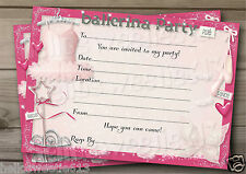 1-10 BALLERINA PRINCESS BIRTHDAY PARTY INVITATIONS,THANK YOU CARDS