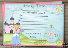 1-10 PRINCESS CINDERELLA INSPIRED BIRTHDAY PARTY INVITATIONS OR THANK YOU CARD