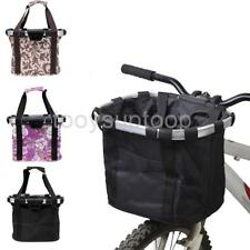 Cycling Bike Pannier Bicycle Front Bag Basket Aluminum Alloy Frame Pet Carrier