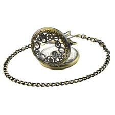 Vintage Retro Antique Mechanical Steampunk Mens Pocket Watch Gift Chain Necklace