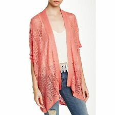 14th & Union Pointelle Easy Cardigan in Coral Size XS/S