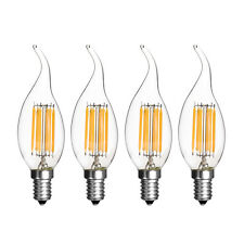 110V 220V COB LED Filament Candle Light Bulb Warm Cool White E14 Base C35 Modern