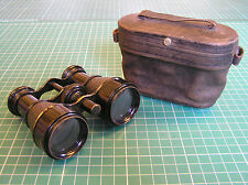 ANTIQUE BINOCULARS OR OPERA GLASSES IN CASE SAUNDERS OXFORD 1911-14 FRENCH (?)