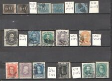 Brazil 1850/1879 16 old stamps used cat.val 187.00$
