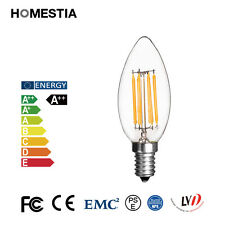 Retro E14 2W 4W 6W Dimmable Edison Filament Bulb COB LED Light Lamp Candle Globe