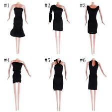 Handmade Fashion Black Dress Sleeveless Gown Clothes Outfit for Barbie Doll