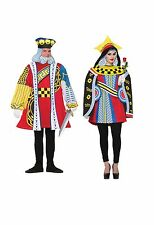 QUEEN OF HEARTS OR KING OF HEARTS ADULT COSTUME DECK OF CARDS GAME FANCY DRESS