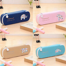 1PC Lovely Cartoon Animal Print Student Pencil Bag PU Faux Leather Makeup Bags