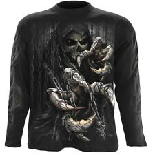 Spiral Death Claws Longsleeve T-Shirt Black [Special Order] - Gothic,Goth,Reaper