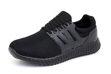Mens Lace Up Running Trainers Casual Sport Designer Fashion Gym Shoes UK Size