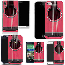 hard back case cover for many mobiles -   pink guitar strings
