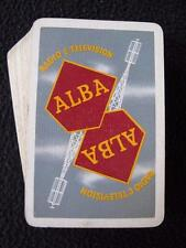 Vintage 1950's Pack Deck of Advertising Playing Cards - Alba Radio & Television