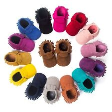 PU Suede Leather Newborn Baby Boy Girl Baby Moccasins Soft Moccs Shoes Bebe Frin