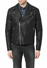 leather jacket mens New 100% Real Lambskin Biker jacket men coat all size 586