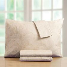 Croscill 400 Thread Count Sheet Set Ivory Paisley 100% Cotton Sateen Quality