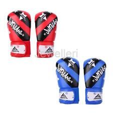 2 Sizes Boxing Gloves Punching Bag Kickboxing Muay Thai Fighting Fitness MMA