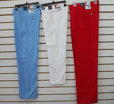 Boys $40 IZOD Med Blue, White, or Red Stretch Flat Front Dress Pants Szs 8 - 18