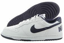 Nike Big Nike Low 355152-140 White Midnight Navy Leather Basketball Shoes Men