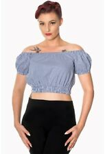 Banned Apparel All Mine Summer Gingham Cropped Top Gypsy Rockabilly Retro PinUp