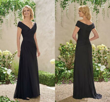 One Shoulder Long Evening Dresses Bridesmaid Party Gown Beaded Chiffon HD308