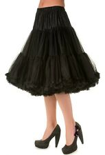 Banned Black Soft Tulle Petticoat 25-27 inch XS-2XL Rockabilly PinUp Vintage