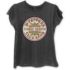 The Beatles 'Sgt peppers' LADIES T-Shirt - LICENSED OFFICIAL BEATLES MERCHANDISE