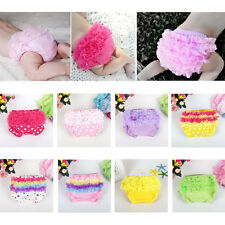 Toddler Baby Girl Ruffle Tulle Pants Bloomers Diaper Nappy Cover Panties 3-24M
