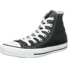 Converse Chuck Taylor All Star Junior Black Leather Trainers Shoes