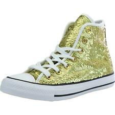 Converse Chuck Taylor All Star Sequin Gold Textile Trainers Shoes