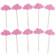 50x Cloud Cupcake Toppers Wedding Picks Party Picks Food Cake Sticks Flags Decor