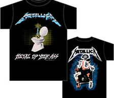Metallica: Metal Up Your Ass Distressed T-Shirt  Free Shipping