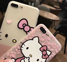 Cute Soft Clear Hello Kitty Silicon Case Phone Back Cover For iPhone 6/6S/7 plus