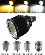 7W E27/GU10/GU5.3/MR16 WHITE/WARM COB LED SpotLight Lamp Down light LED Bulb