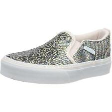 Vans Asher Glitter Youth Multi Textile Trainers Shoes