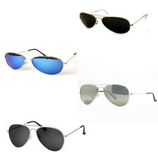 Fancy Dress Army Gangster Aviator Sunglasses Summer Mirror Silver Tint Police