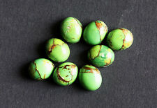 Green Copper Turquoise 11x9MM Oval Shape, Calibrated Cabochons AG-213