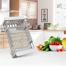 Flexible Stainless Steel Drying Rack Holder M99G Fruit Drainer Basket Holder