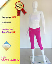 Activewear Tights, workout clothes, pink, new, Fitland, size 8, 10, 12, S, M, L