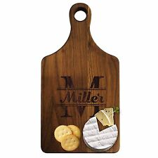 Personalized Walnut or Maple Cheese Cutting Block or Bread Serving Board