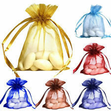 50 Pieces 3x4 Inches Flat Wedding Jewelry Gift Pouch Sheer Organza Bags 7x9cm